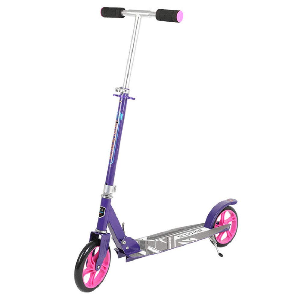 ILYO Unicorn Scooter de Dos Ruedas Scooter Adulto Scooter 200PU Rueda de Pedal Plegable