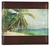 Pinnacle Frames and Accents 2UP RETRO TRAVEL PAINTED BEACH SCENE PHOTO ALBUM