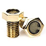 Harley Sportsters Polished Brass Head Breathers Bolts - Bison Motorsports