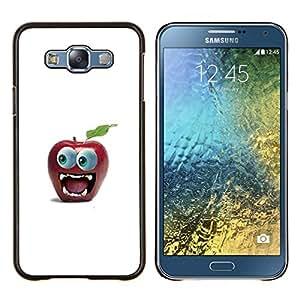 TECHCASE---Cubierta de la caja de protección para la piel dura ** Samsung Galaxy E7 E700 ** --Divertido Gran Manzana Ojo