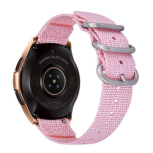 VIGOSS Nylon Bracelet Compatible with Galaxy Watch 42mm Bands Galaxy Watch Active 40mm Band 20mm Soft NATO Nylon Wristband Replacement for Samsung ...