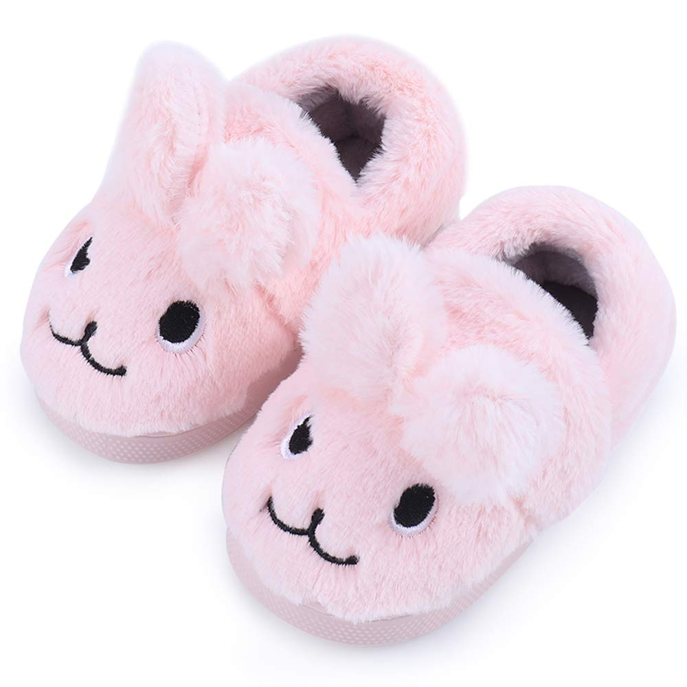 Little Kids Warm Non Slip House Shoes Home Slippers Tongzone Toddler Grils Boys Cute Bunny Slippers