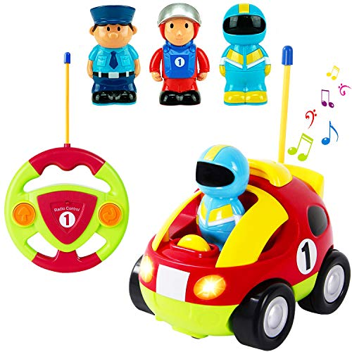 My First Cartoon R/C Race Car Radio Remote Control Toy with Music and Lights for Toddlers