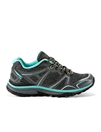 CRUSHCLIMB Womens Hiking & Trekking Shoes - Casual & Comfortable - Made from Heat Fused Synthetic Leather with Lightweight and Breathable Mesh Fabric - Perfect for Outdoor Spring Summer Fall