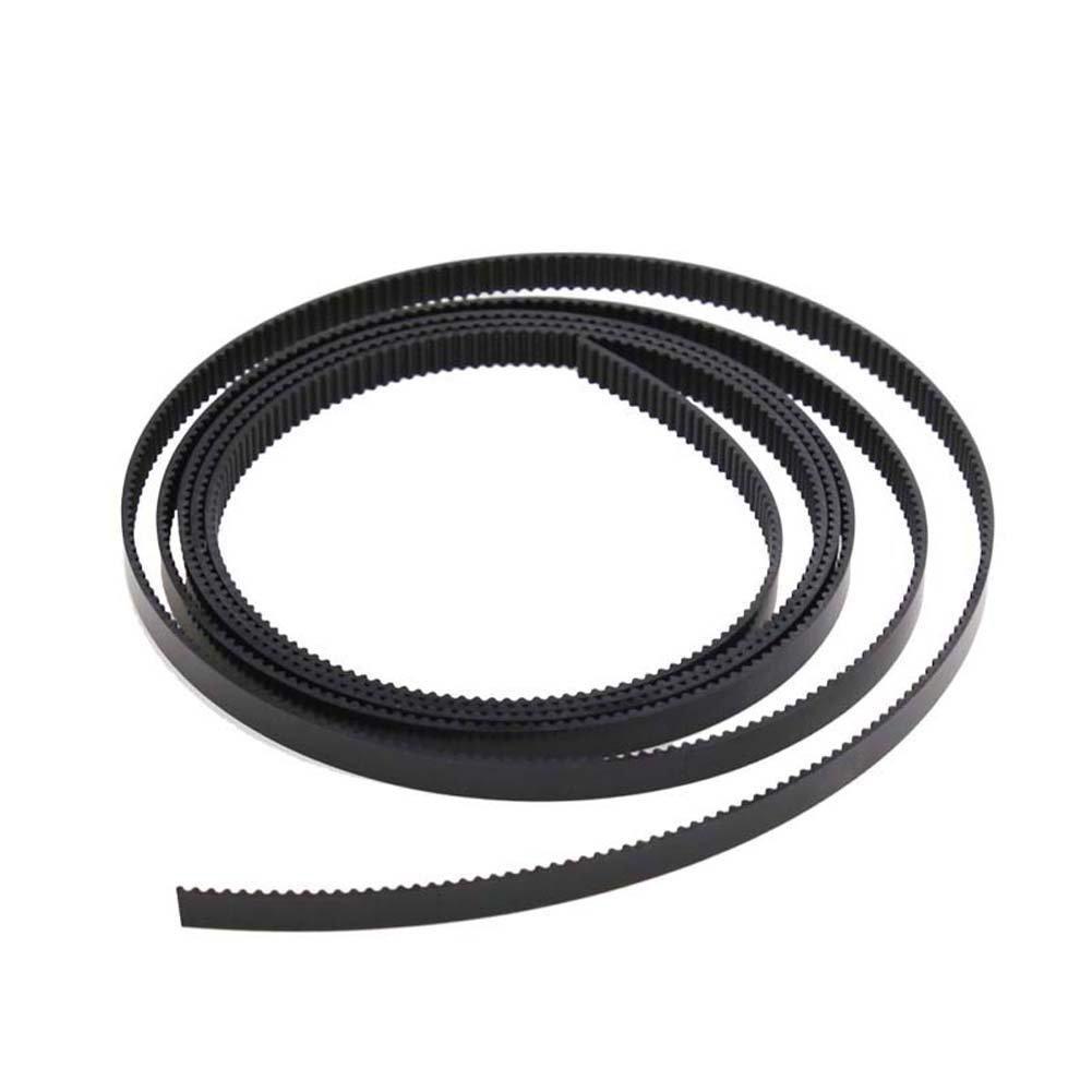 Zamtac 10pcs 1M GT2 Open Timing Belt Width 6mm Rubber Loop Belts for 3D Printer SD998 - (Color: Green)