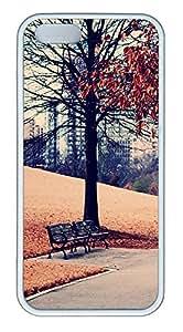 Lmf DIY phone caseiPhone 5 5S Case Landscapes park TPU Custom iPhone 5 5S Case Cover WhiteLmf DIY phone case