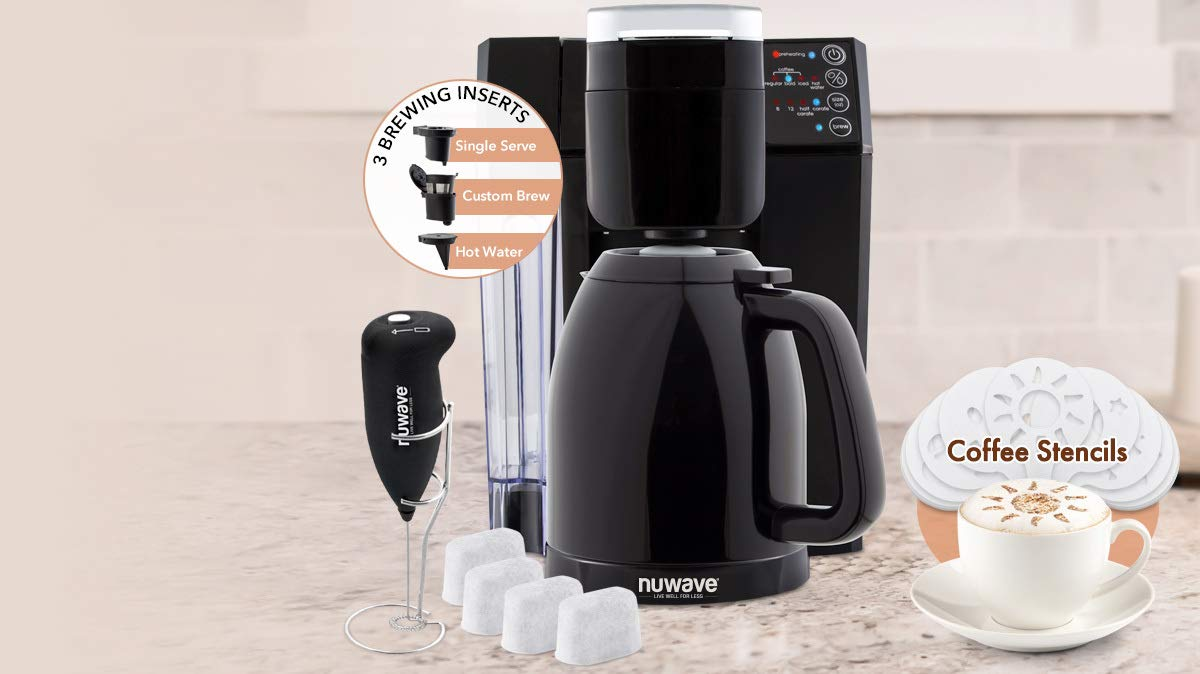 82ed260ff3d5 Amazon.com  BruHub 3 in 1 Coffee Maker with Stainless Steel Carafe  Kitchen    Dining