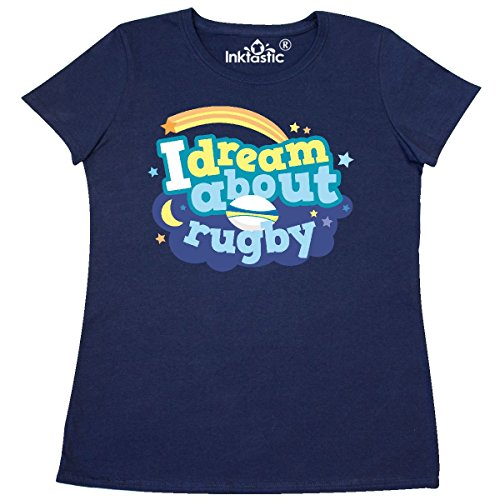 1401 Rugby (Inktastic - Dream About Rugby sports Women's T-Shirt XX-Large Navy Blue)