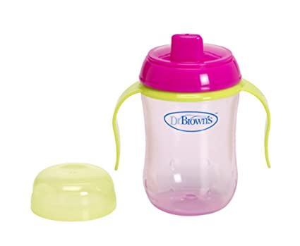 Dr Brown's 270 ml Soft Spout Training Cup (pink) Sippy Cups at amazon