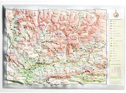 Mapa en relieve del Principado de Andorra: Escala 1:300.000 ...