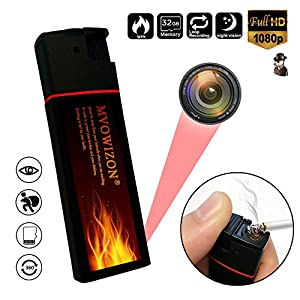 MVOWIZON Spy Camera Hidden Camera Mini Camera with Night Vision Full HD Video recording Motion Detection and Photo Max Support 32 Gb