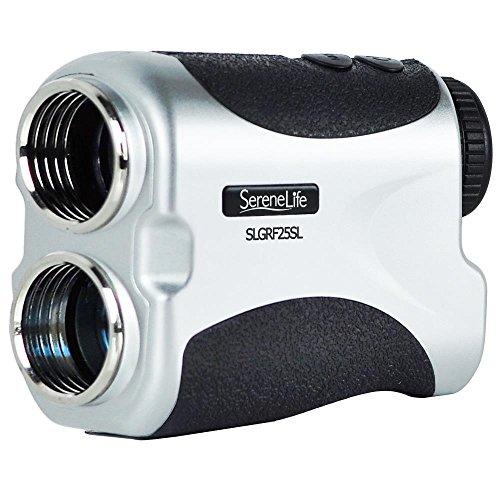 SereneLife Premium Slope Golf Laser Rangefinder with Pinsensor - Digital Golf Distance Meter - Compact Design -With Case