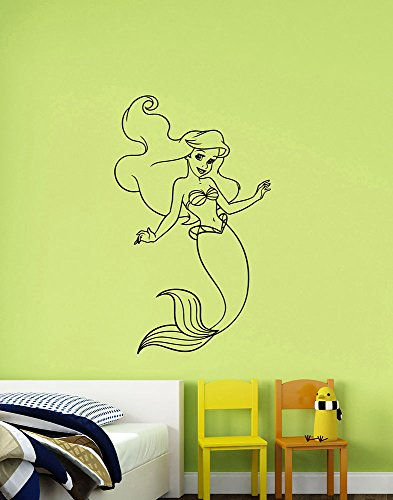 Little Mermaid Wall Sticker Princess Ariel Vinyl Decal