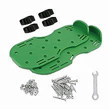 Gyffsso Zapatos/Sandalias para aireador con Punta de césped para jardín, para ventilar su césped o Patio (2 Correas),Green
