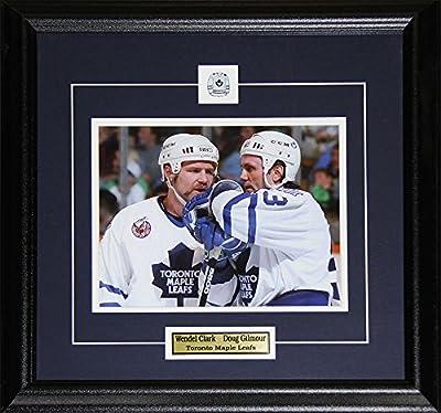 Midway Memorabilia clarkgilmour-8x10 Doug Gilmour & Wendel Clark Toronto Maple Leafs 8 x 10 Frame