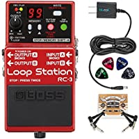 BOSS RC-3 Loop Station Stereo Recorder Pedal BUNDLED WITH...