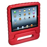 E-Stand Protect-O Foam Shell Case for iPad 2/3/4, Red (SCFT-KIDCASE-Red-New)