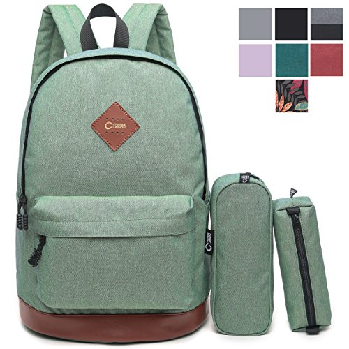 "CrossLandy Classic School Bookbag Lightweight College 15"" Laptop Backpack (Winter Womens Backpack)"