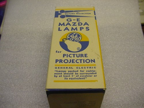 Base 8 Mm Projector - Projection Lamp GE Mazda 120 Volt, 750 Watt. Vintage. New Old Stock.