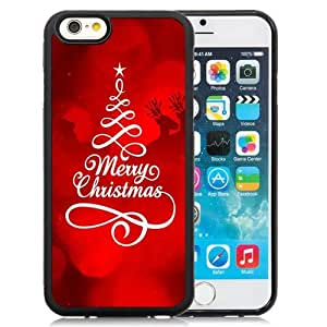 Beautiful Custom Designed Cover Case For iPhone 6 4.7 Inch TPU With Merry Christmas and Happy New Year 2014 Phone Case