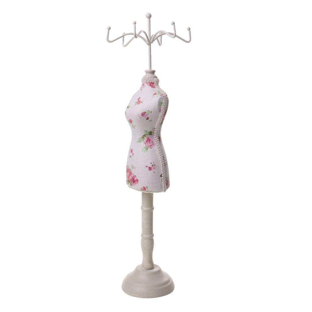 Mannequin Schmuckständer Modellform Schmuckhalter aus Harz Schmuck Kette stehen Display Halter - Weiß Generic