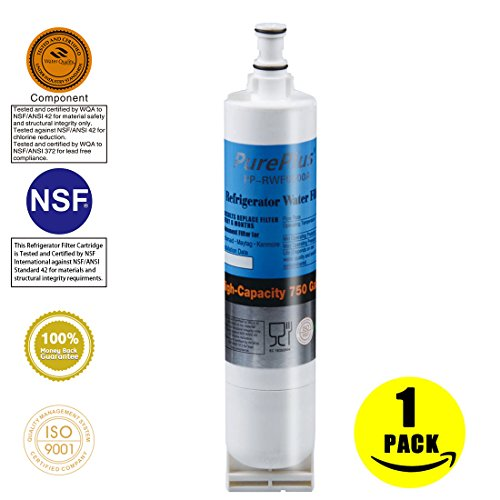 Pureplus 4396508 Compatible with Whirlpool 4396508, 4396510, EveryDrop Filter 5, EDR5RXD1, NLC240V, PUR W10186668, Kenmore 46-9010 Refrigerator Water Filter