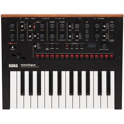 Korg Monologue Monophonic Analog Synthesizer with Presets -Black (MONOLOGUEBK) by Korg
