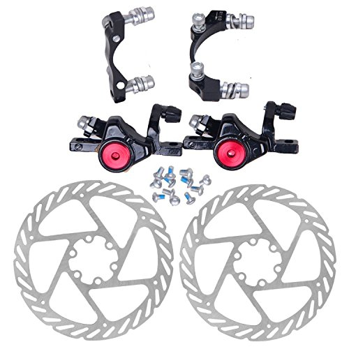 160 Mm Disc (Fuerdi Mechanical Disc Brake Front160mm and Rear 160mm + G2 Rotors For MTB Mountain Bicycle)