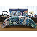Poetic Wanderlust by Tracy Porter PQW2038KG-1100 Oversized Comfort Quilt, King, Iris