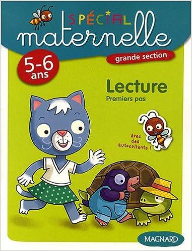 Téléchargement gratuit de livres en ligne pdf Lecture, grande section, 5-6 ans : Premiers pas by Yvette Jenger,Pierre Caillou PDF