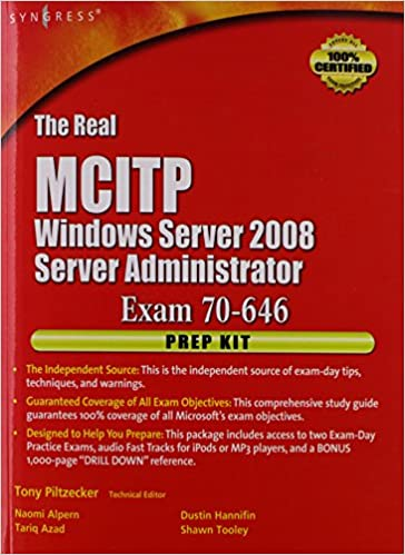 Ebooks à télécharger gratuitement pour ipadThe Real MCTS/MCITP Exam 70-646 Prep Kit: Independent and Complete Self-Paced Solutions 1597492485 in French PDF ePub by Naomi Alpern,Tony Piltzecker