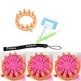 Estone® Knitter Knitting Flower Loom Set Kit Make EMBELLISHMENTS For Hat Scarves