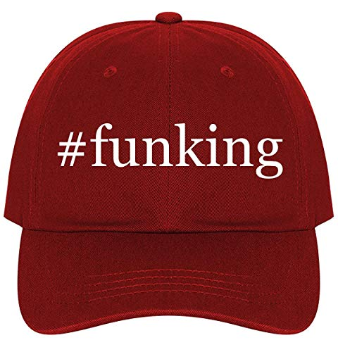 #Funking - A Nice Comfortable Adjustable Hashtag Dad Hat Cap, Red, One Size
