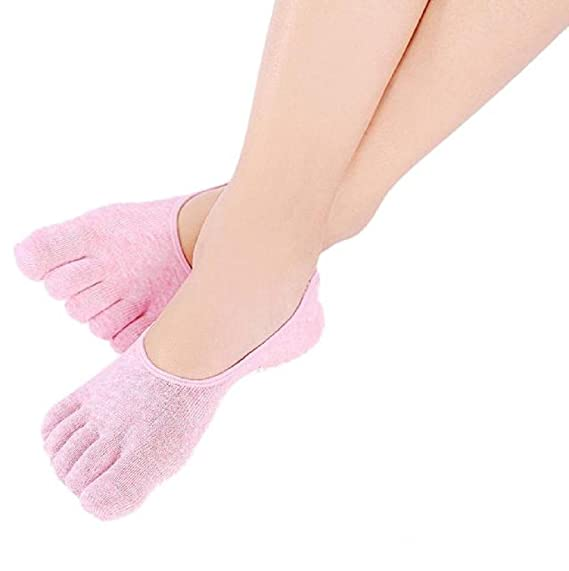 Sannysis - Calcetines Yoga 5 Dedos de algodón para Mujer Deportivos (Rosa): Amazon.es: Ropa y accesorios