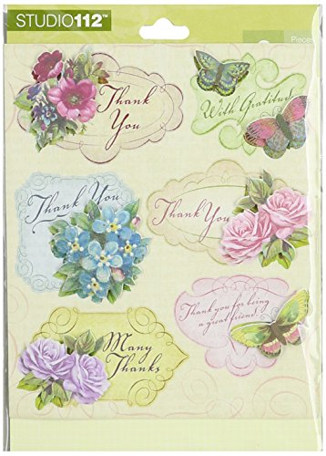 K&Company 30-596443 Thank You Grand Adhesions Stickers