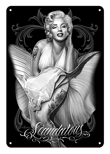 David Gonzales Tin Art Sign - Scandalous -