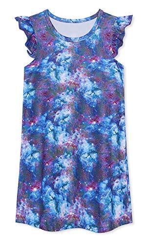 (uideazone Girls Rainbow Unicorn Nightgown Nightdress Sleepwear Pajamas for Casual Summer Homewear)