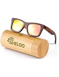 Bamboo Wood sunglasses 100% Hand-made, UV400 Polarized...