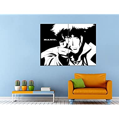 XV6027 Cowboy Bebop Spike Spiegel Awesome BW Anime Manga Art HUGE GIANT Wall Print POSTER