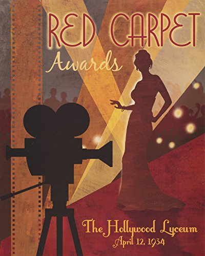 Vintage 1934 Red Carpet Awards Hollywood Cinema Wall Picture Art Print