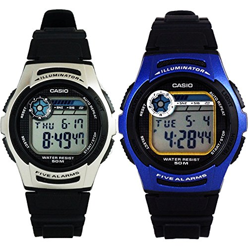 Casio W213 Digital Multi-Function Sports Watch w/ 10 Year Battery Life
