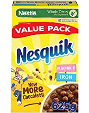 Nesquik Chocolate Flavoured Cereals Value Pack, 625g - Pack of 1