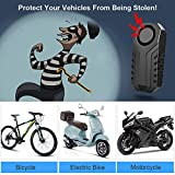 Onvian Upgraded Wireless Anti-Theft Motorcycle Bike Alarm with Remote, Waterproof Bicycle Security Alarm Vibration Sensor, 113dB Loud