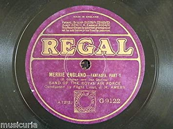 78 BAND OF THE ROYAL AIR FORCE merrie england fantasia [ edward ...