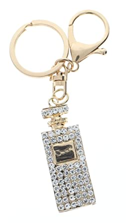 Amazon.com: Botella de perfume con diamantes de imitación en ...