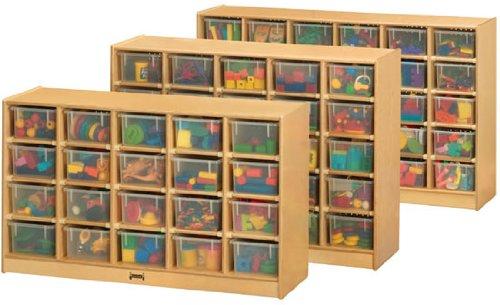 Jonti-Craft 04210JC 20 Cubbie-Tray Mobile Storage with Clear ()
