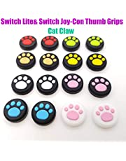Silicone Joystick Thumb Grips Grip Cover Thumbstick Cap for Nintendo Switch Lite Console for Joy-Con Controller Joystisck Thumb Grip Cap Cat Paw Claw (Pink)