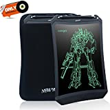 8.5 Inches LCD Writing Tablet - NEWYES NYWT085D - Robot Pad Kids Drawing board Doodle Pads Electronic Graphic Drawing Tablet with Case (Black+case)