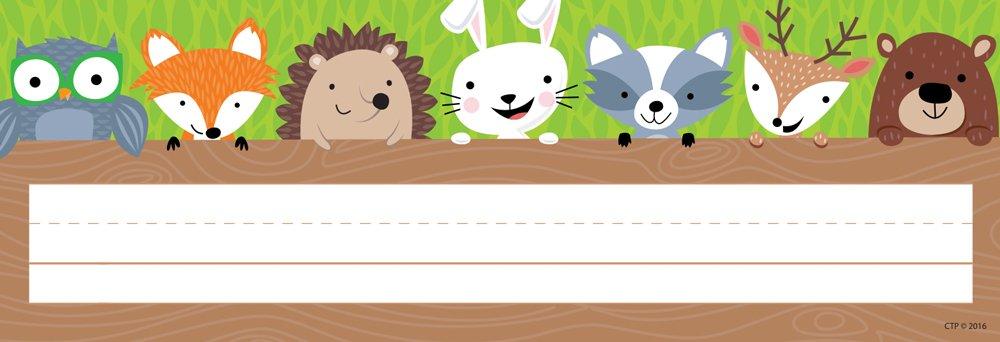 Creative Teaching Press Woodland Friends Name Plate (4400)