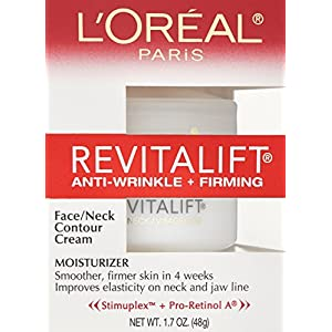 L'Oréal Paris Revitalift Anti-Wrinkle + Firming Face & Neck Cream, 1.7 oz.